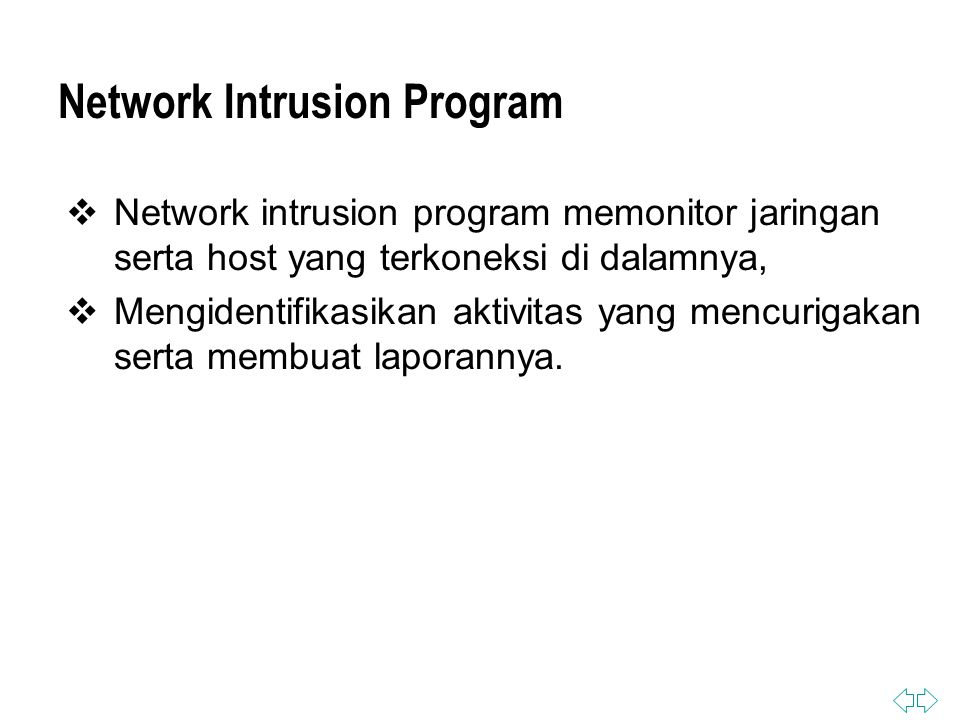 Network Intrusion Program