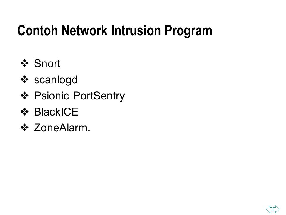 Contoh Network Intrusion Program