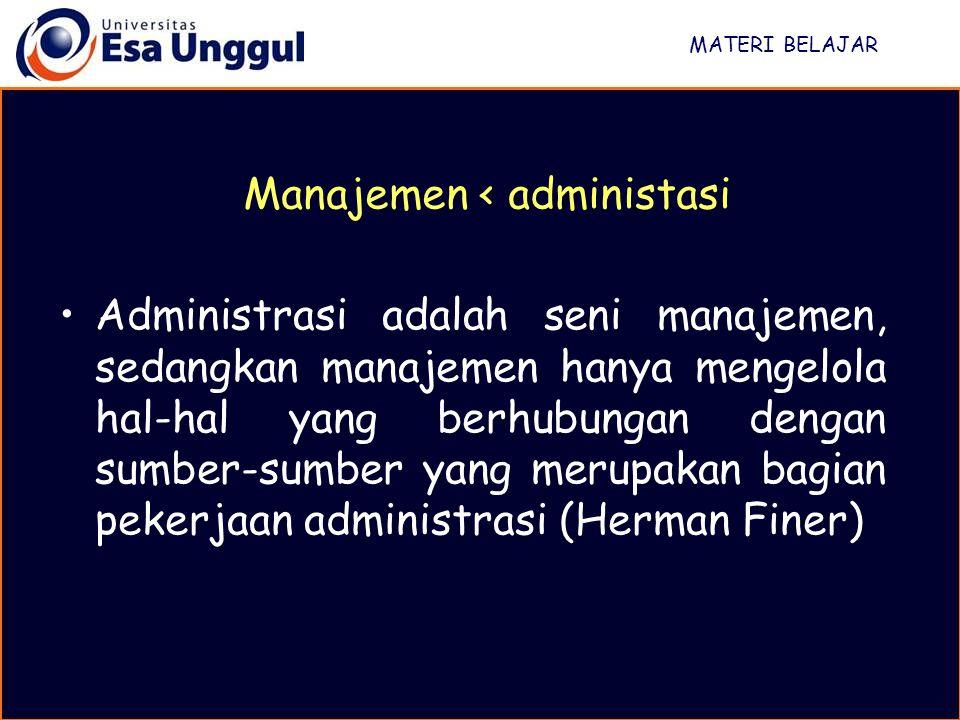 Manajemen < administasi