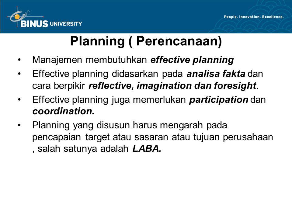 Planning ( Perencanaan)