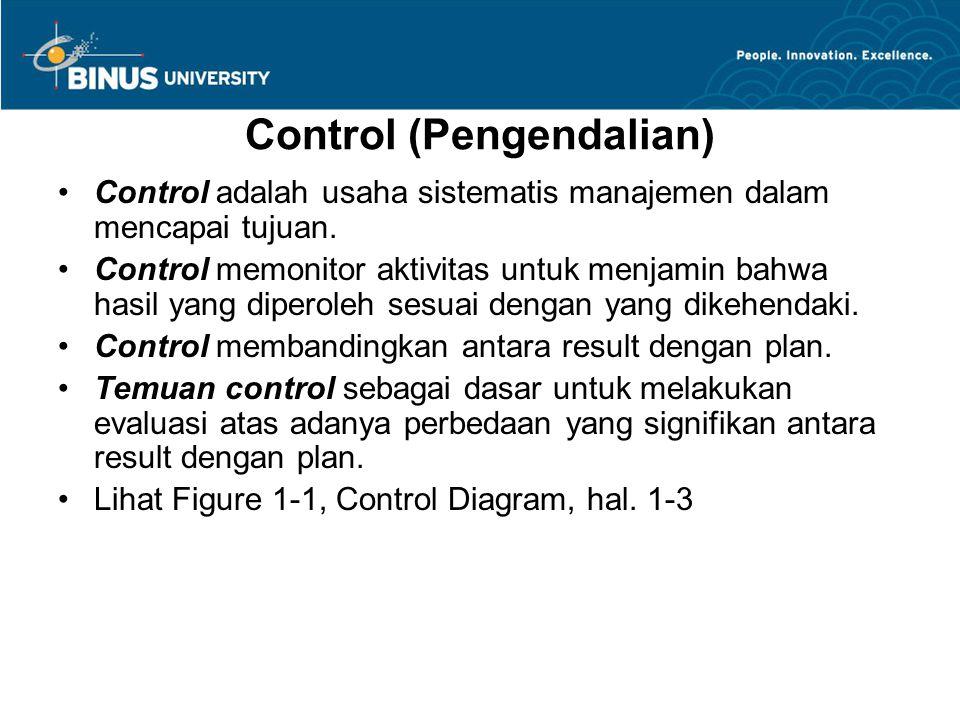 Control (Pengendalian)