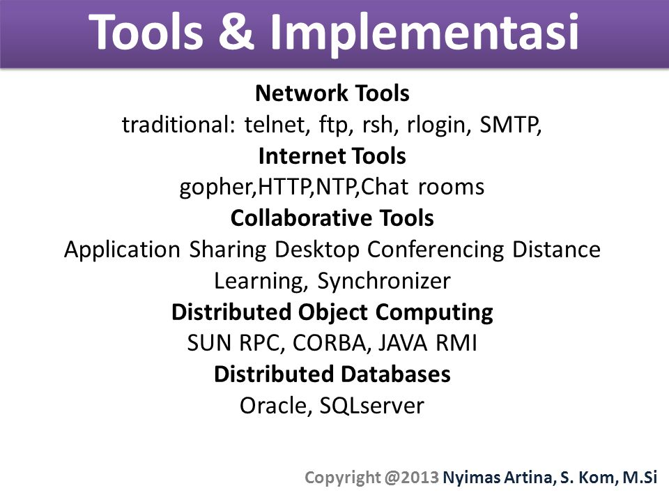 Tools & Implementasi Network Tools