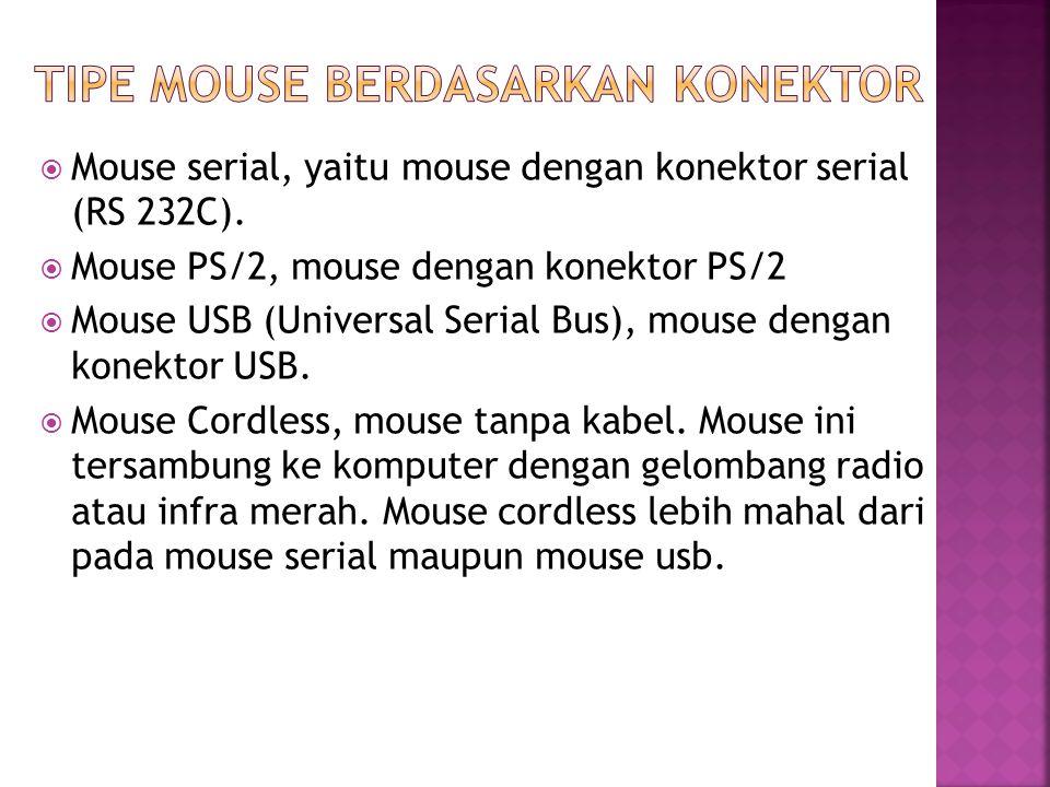 Tipe mouse berdasarkan konektor