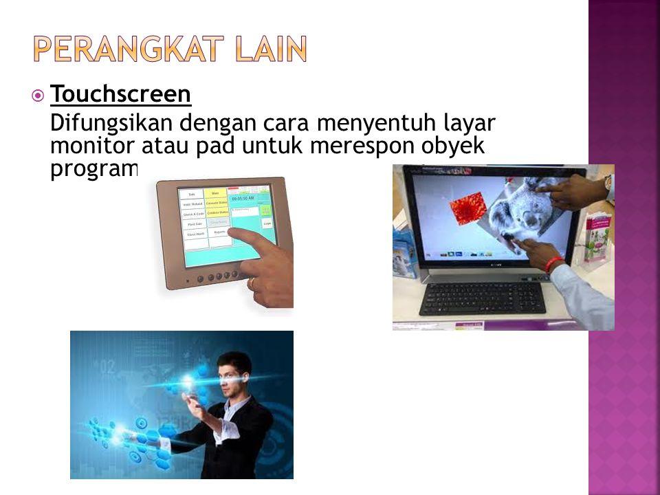 Perangkat lain Touchscreen
