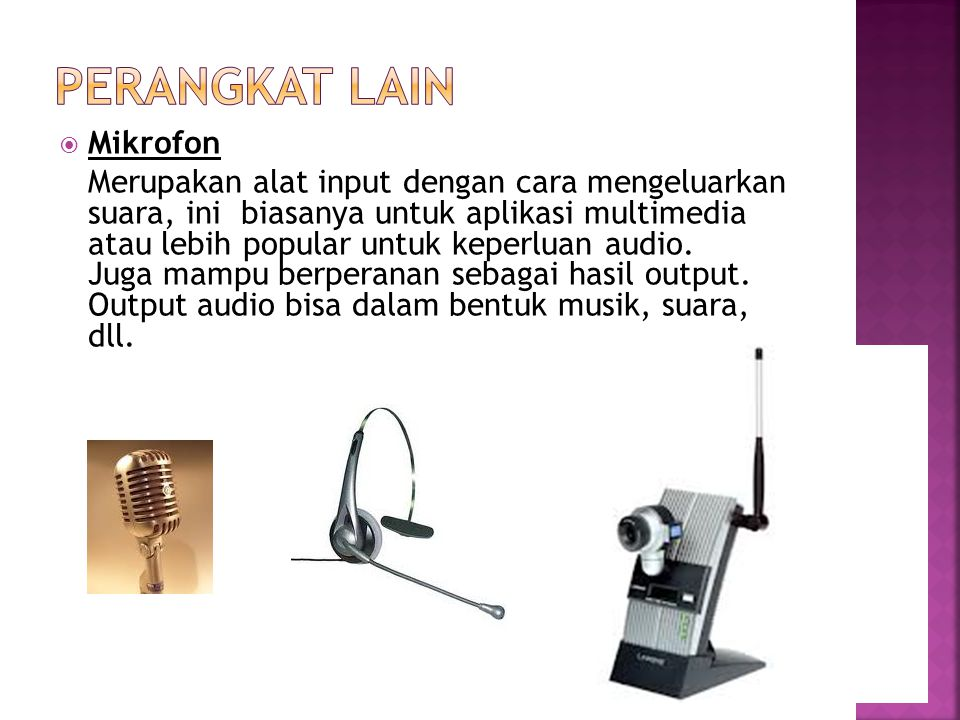 Perangkat lain Mikrofon
