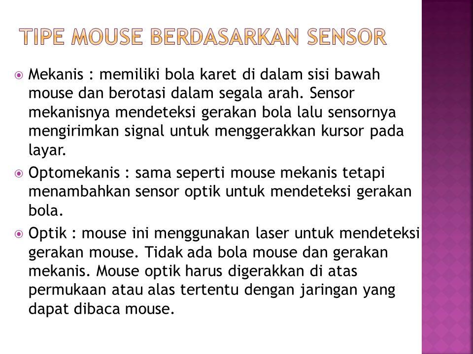 Tipe Mouse berdasarkan sensor