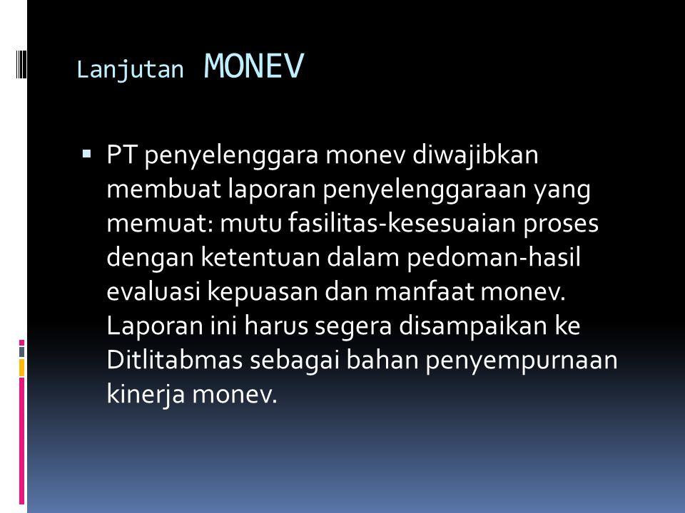 Lanjutan MONEV