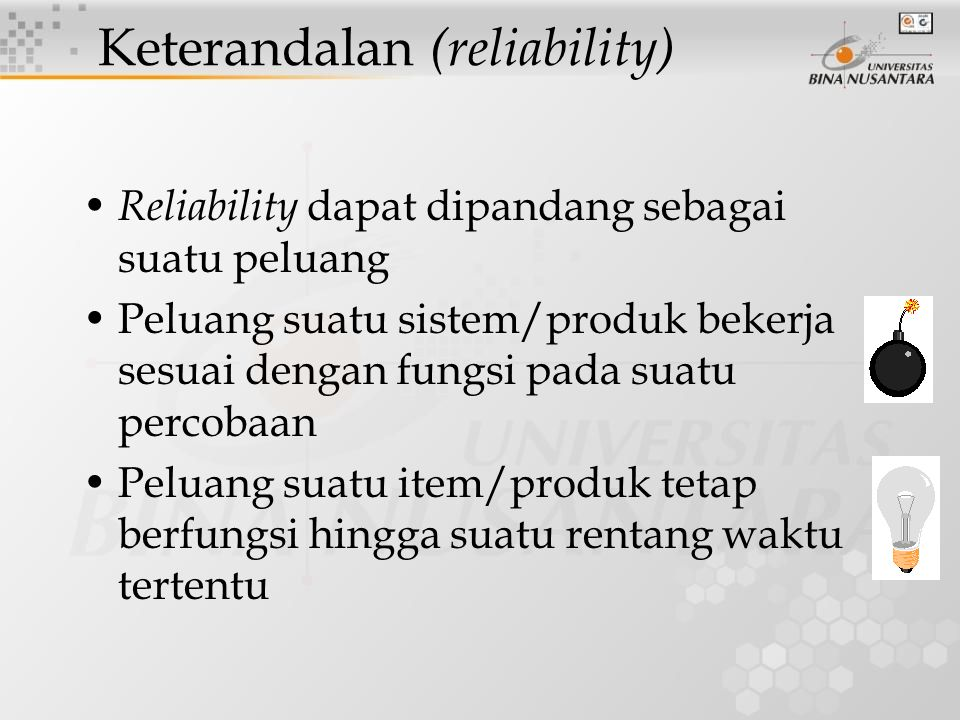 Keterandalan (reliability)