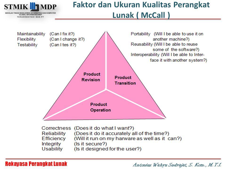Faktor dan Ukuran Kualitas Perangkat Lunak ( McCall )