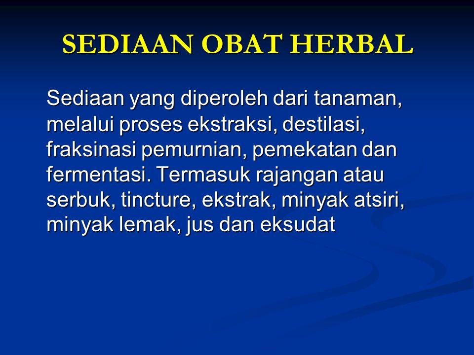 SEDIAAN OBAT HERBAL