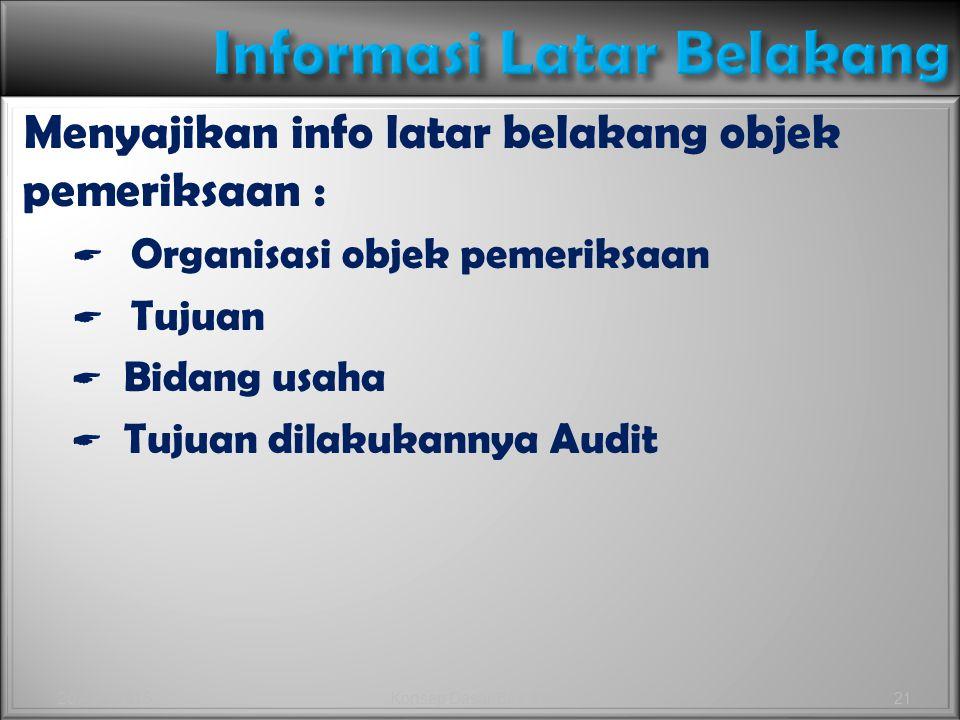 Informasi Latar Belakang