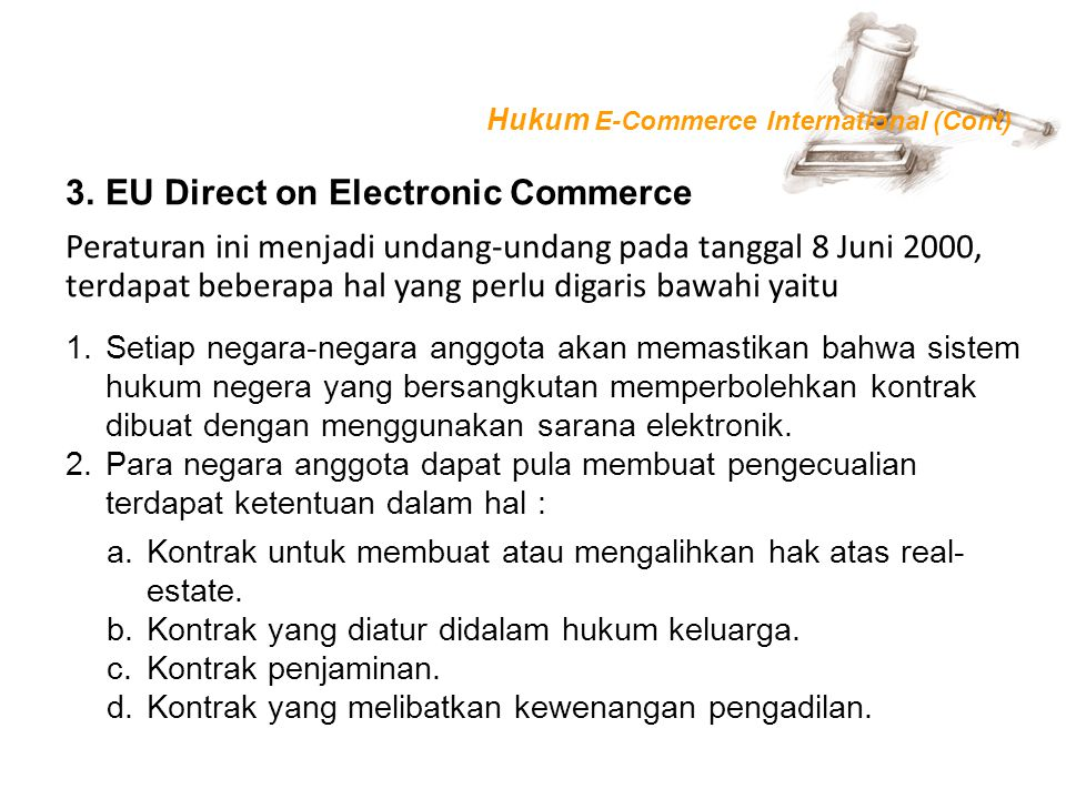 EU Direct on Electronic Commerce