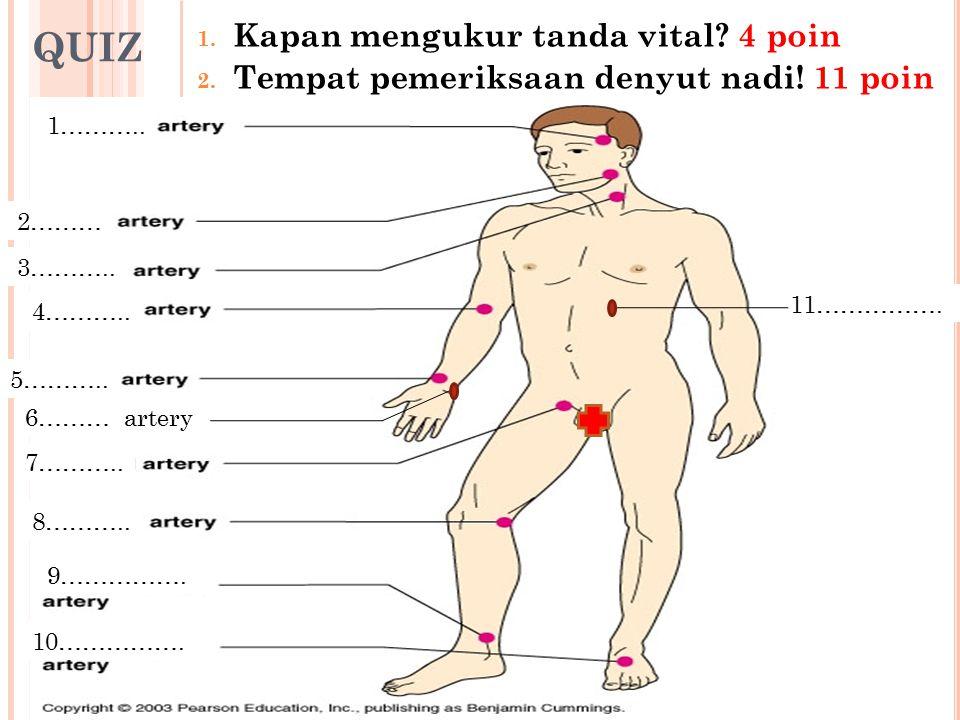 QUIZ Kapan mengukur tanda vital 4 poin