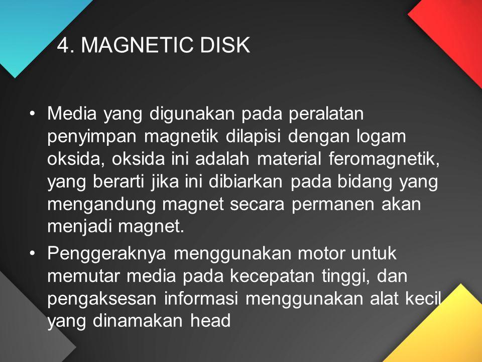 4. MAGNETIC DISK