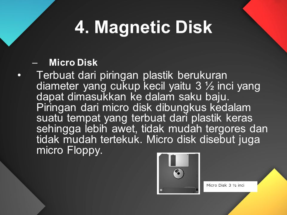 4. Magnetic Disk Micro Disk.