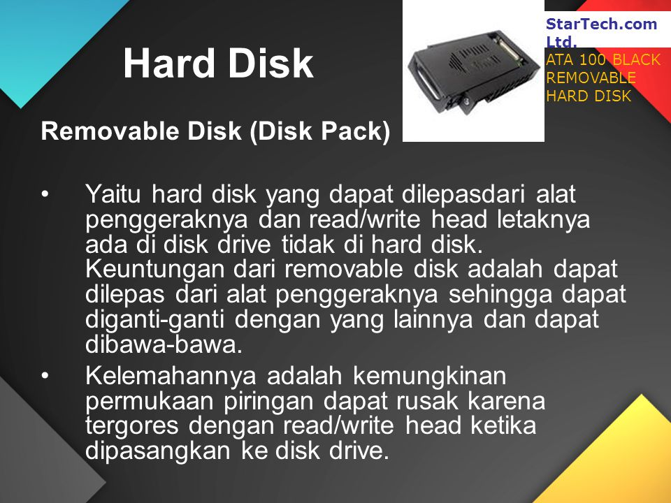 Hard Disk Removable Disk (Disk Pack)