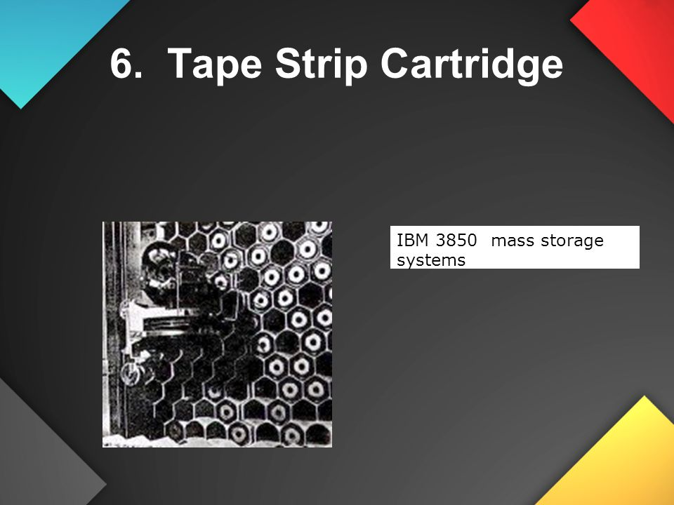 6. Tape Strip Cartridge IBM 3850 mass storage systems