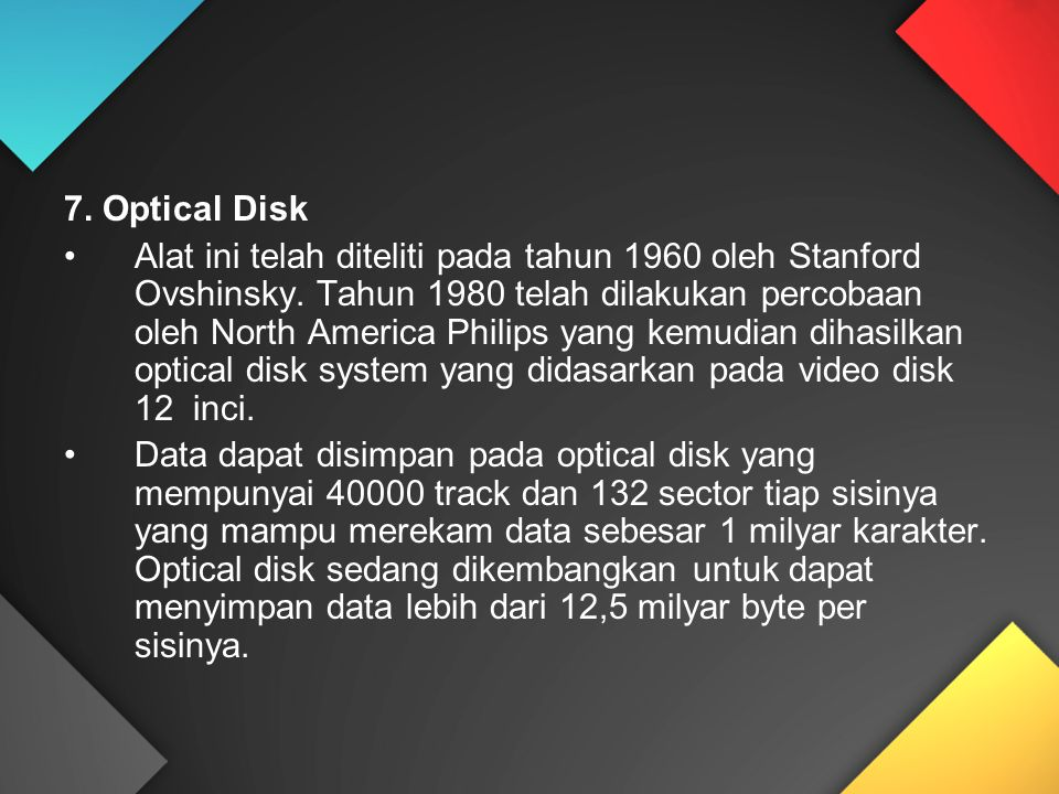 7. Optical Disk