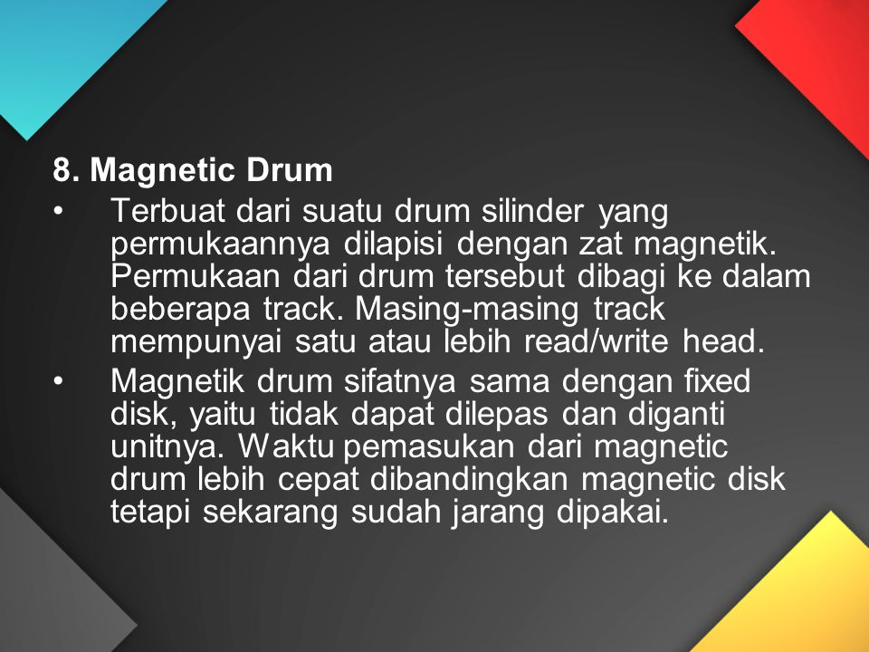 8. Magnetic Drum