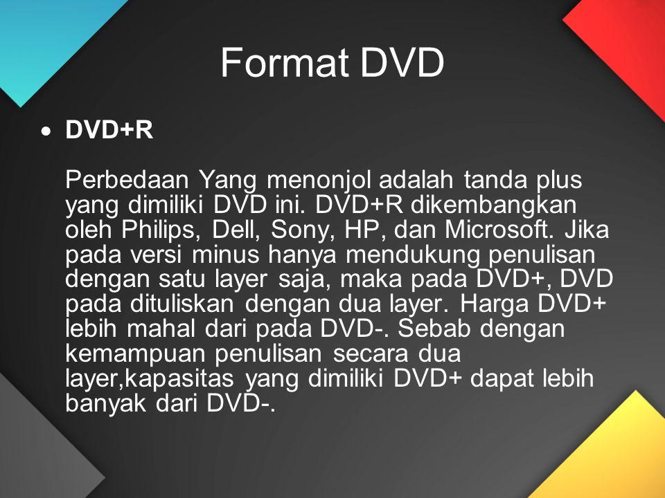 Format DVD