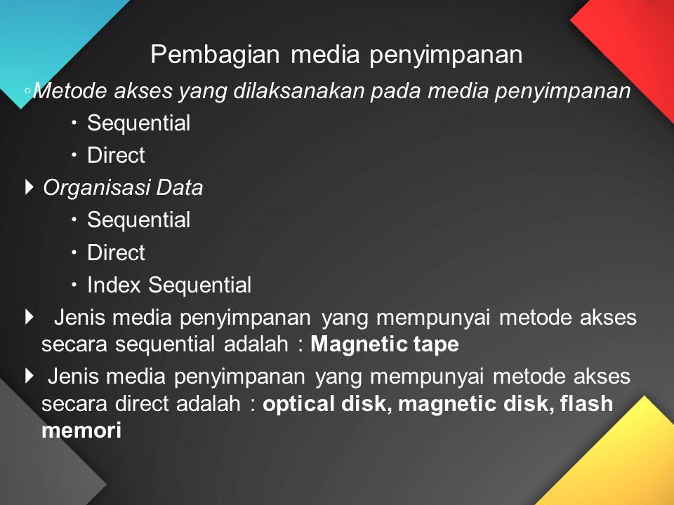 Pembagian media penyimpanan