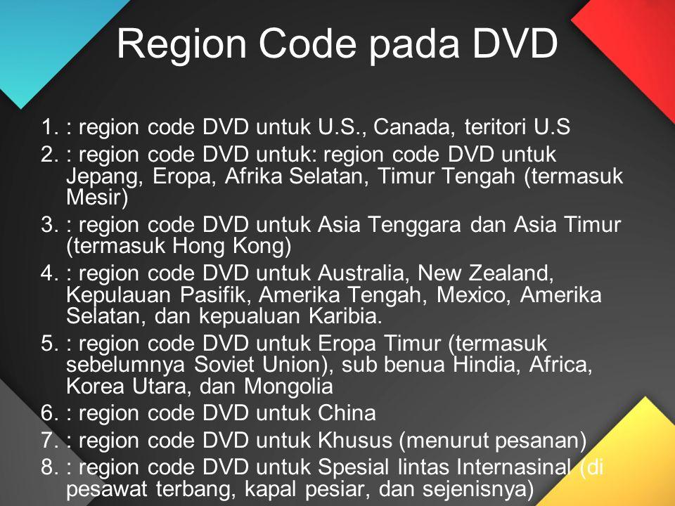 Region Code pada DVD : region code DVD untuk U.S., Canada, teritori U.S.