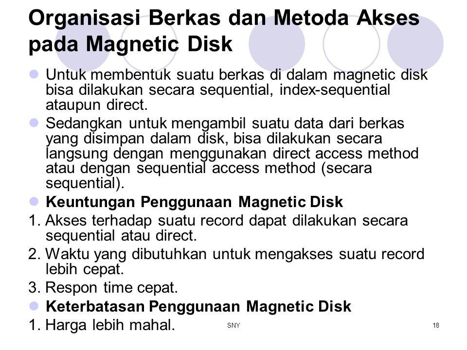 Organisasi Berkas dan Metoda Akses pada Magnetic Disk