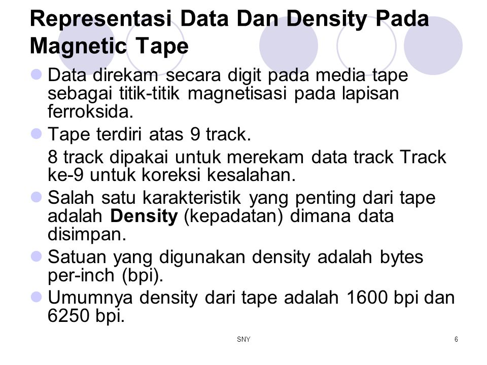 Representasi Data Dan Density Pada Magnetic Tape