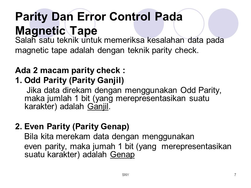Parity Dan Error Control Pada Magnetic Tape