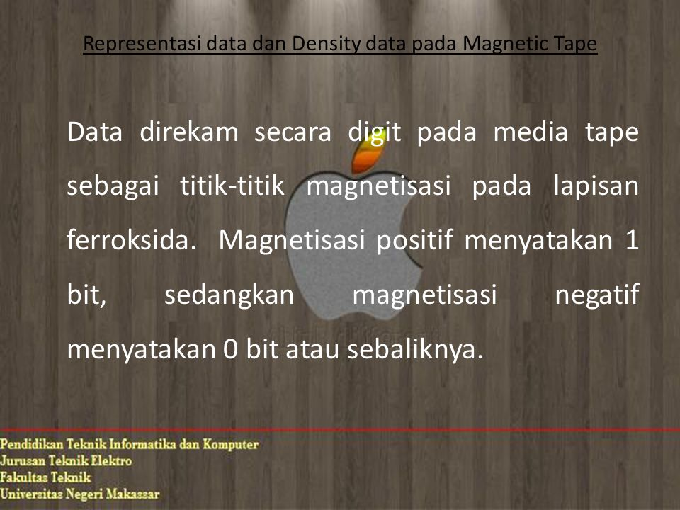 Representasi data dan Density data pada Magnetic Tape