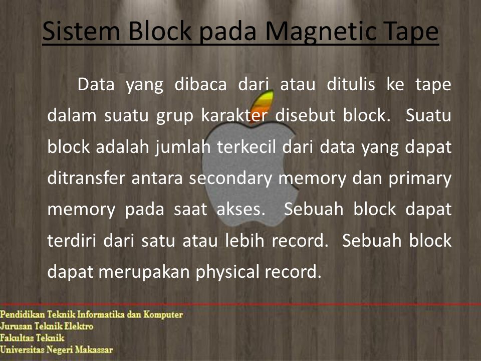 Sistem Block pada Magnetic Tape