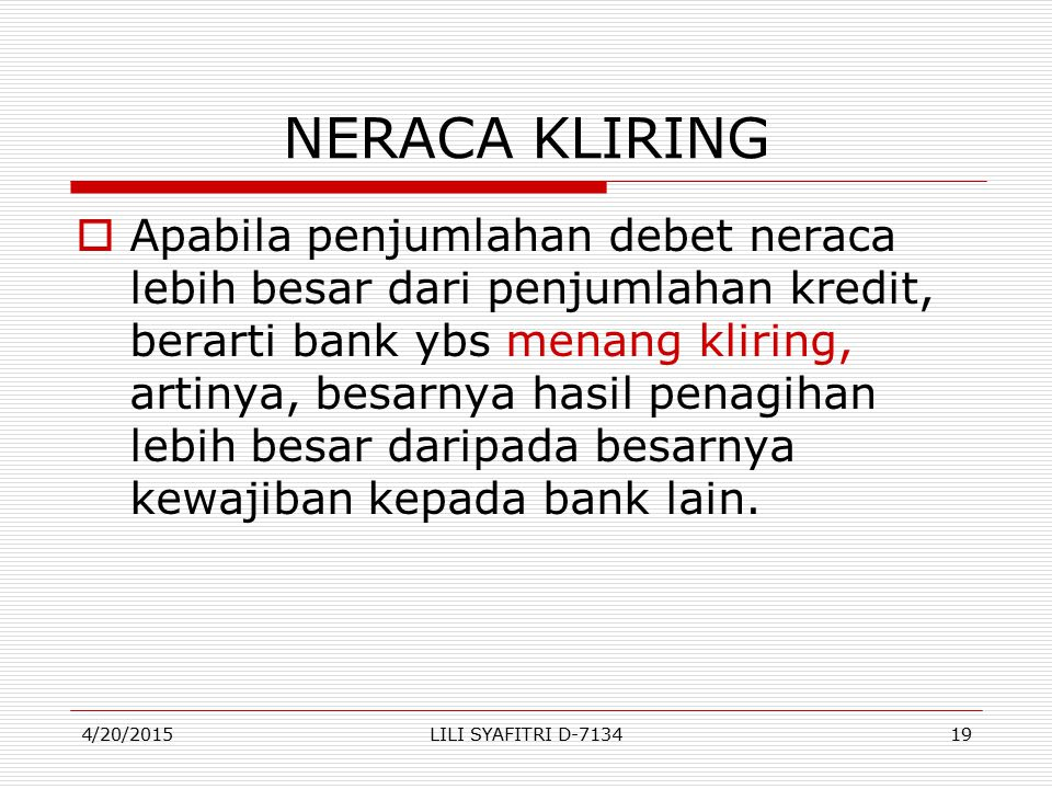 NERACA KLIRING