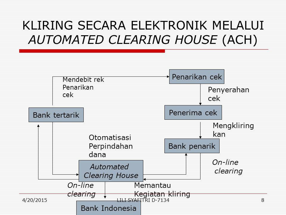 KLIRING SECARA ELEKTRONIK MELALUI AUTOMATED CLEARING HOUSE (ACH)