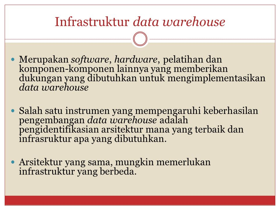 Infrastruktur data warehouse