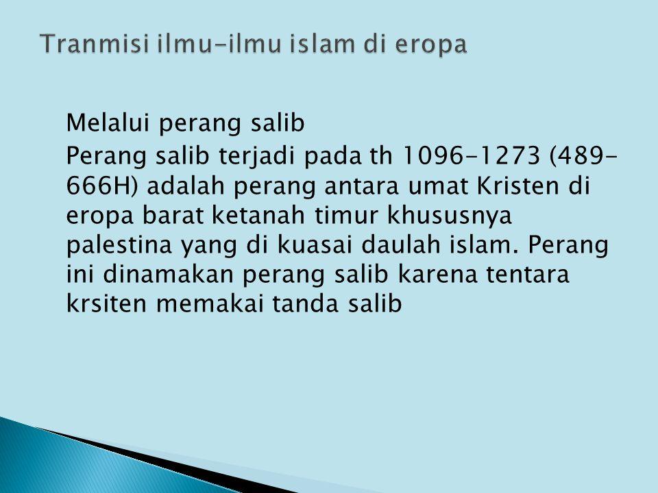 Tranmisi ilmu-ilmu islam di eropa