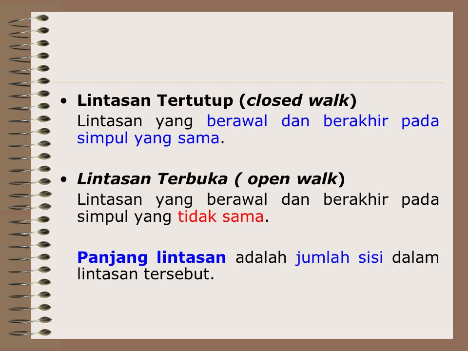 Lintasan Tertutup (closed walk)