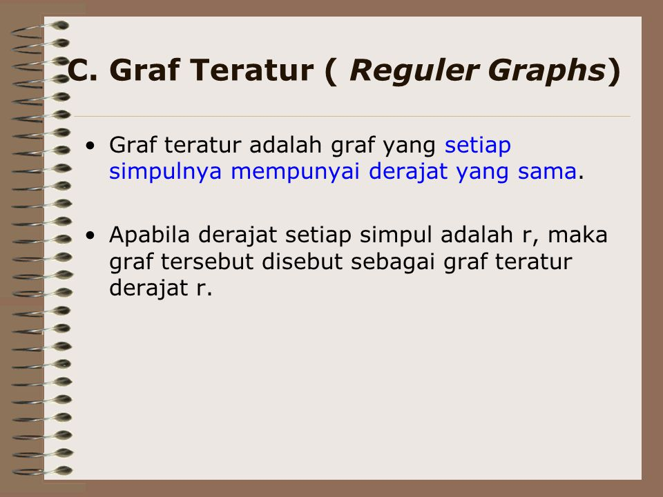 C. Graf Teratur ( Reguler Graphs)