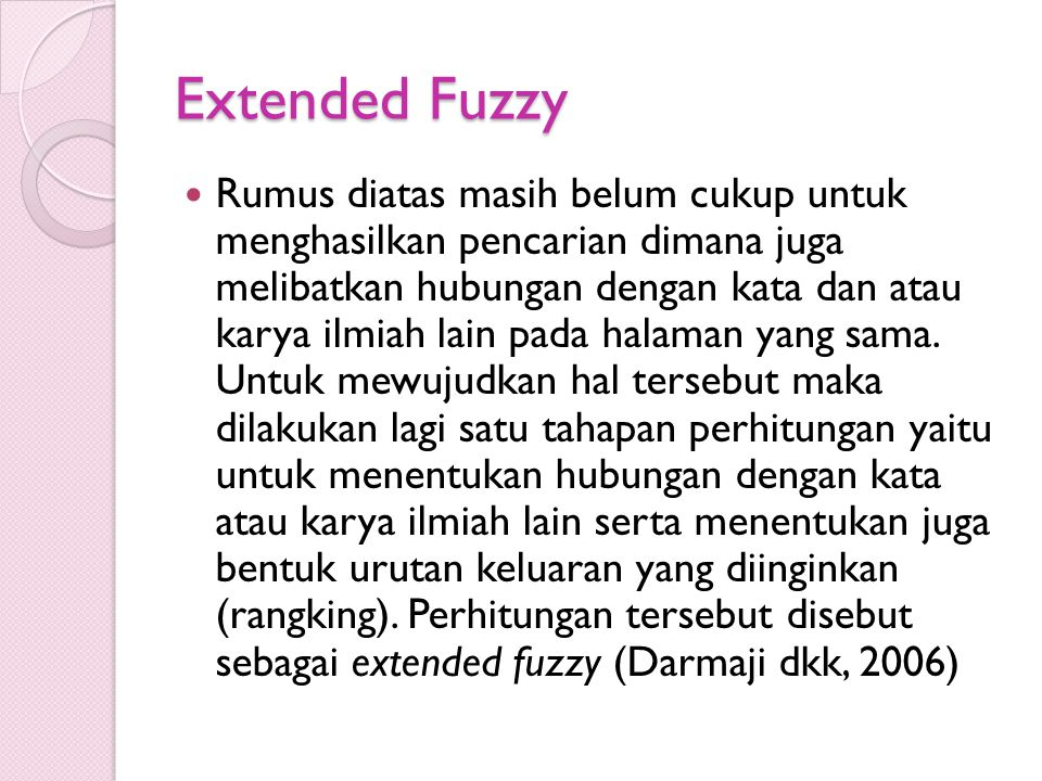 Extended Fuzzy