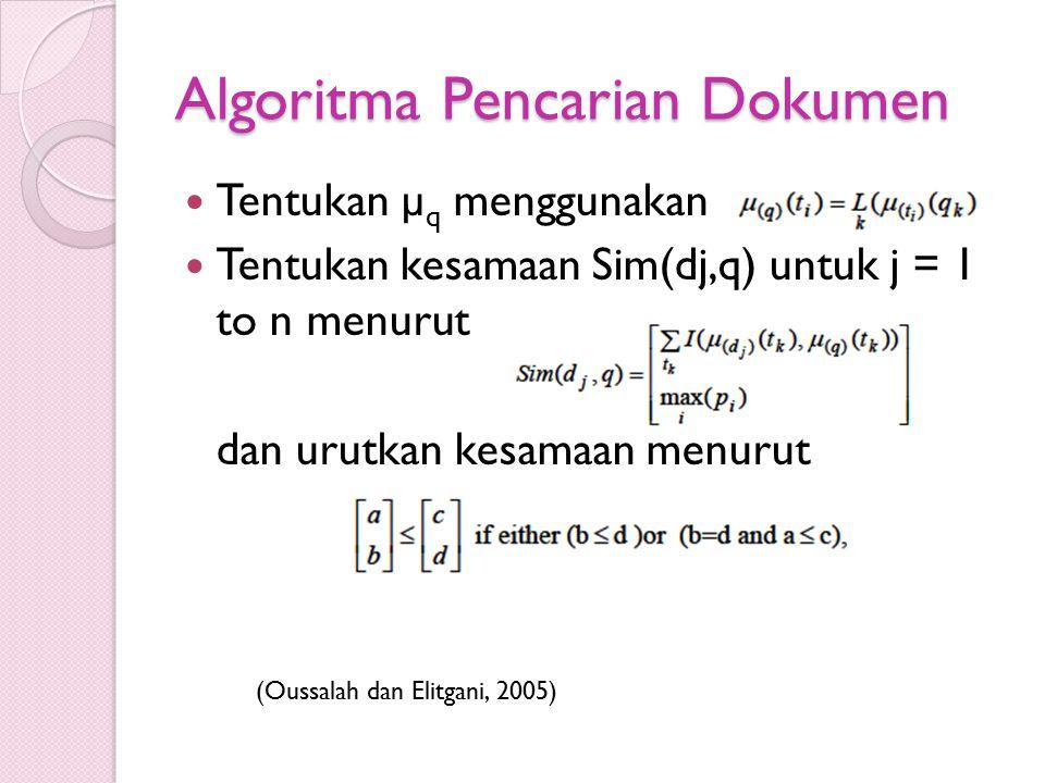 Algoritma Pencarian Dokumen