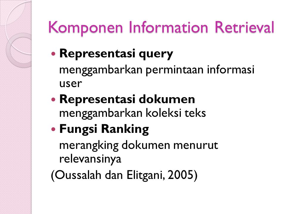 Komponen Information Retrieval