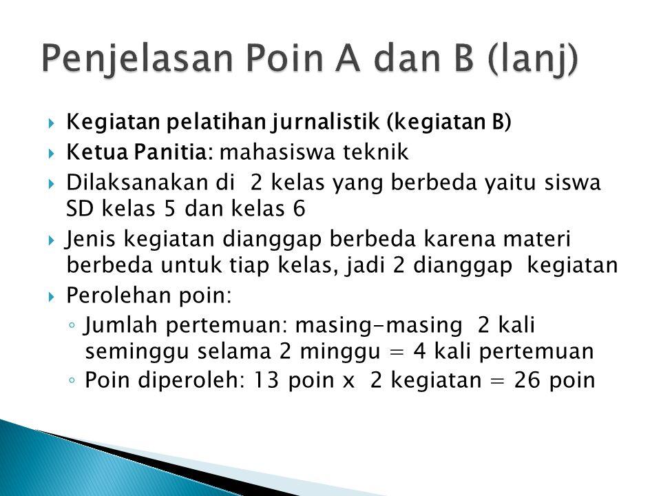 Penjelasan Poin A dan B (lanj)