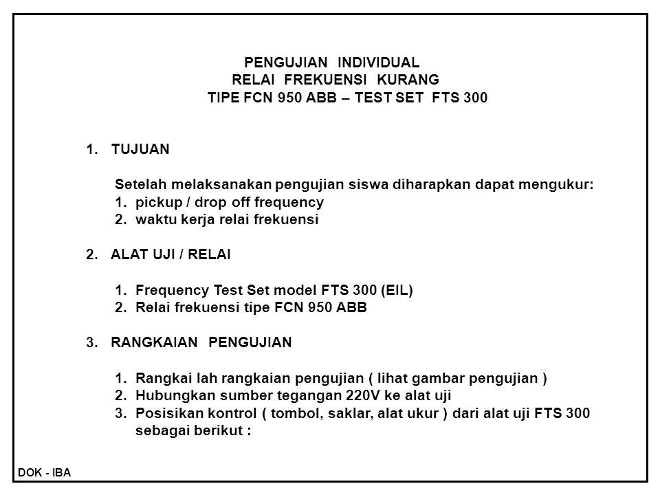 RELAI FREKUENSI KURANG TIPE FCN 950 ABB – TEST SET FTS 300