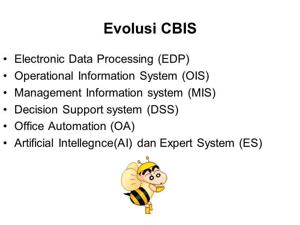 Evolusi CBIS Electronic Data Processing (EDP)