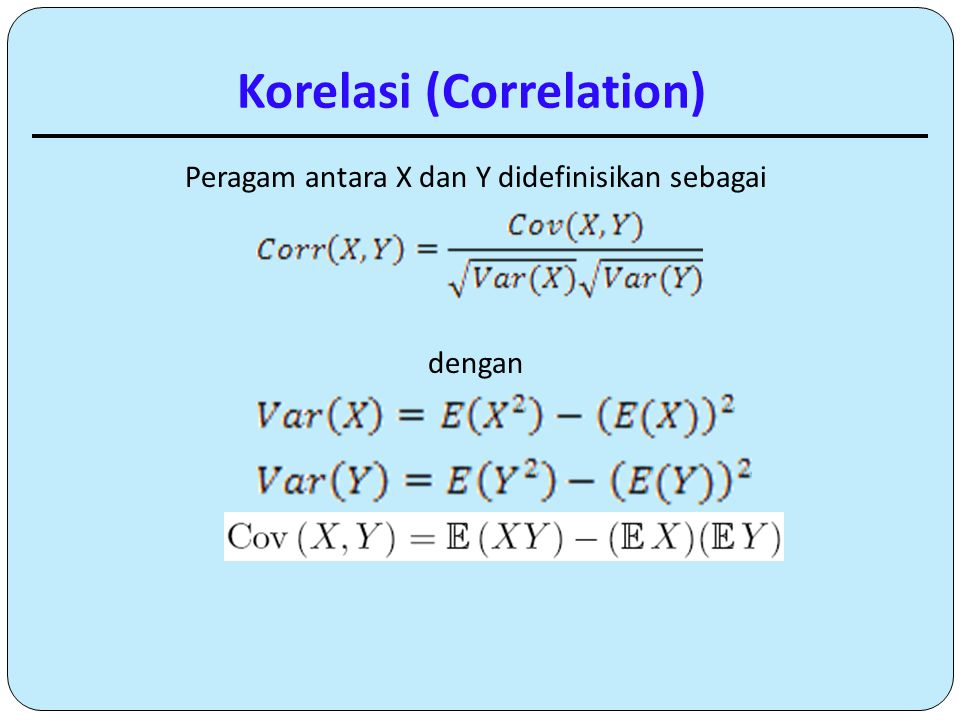 Korelasi (Correlation)