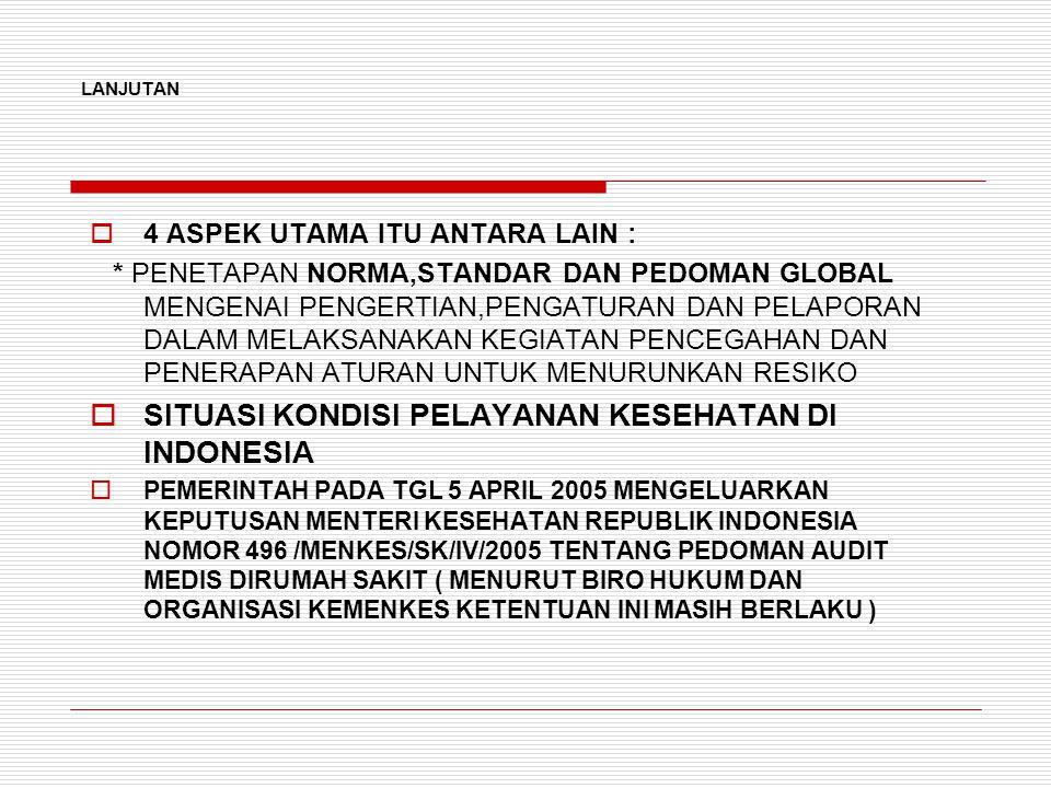 SITUASI KONDISI PELAYANAN KESEHATAN DI INDONESIA