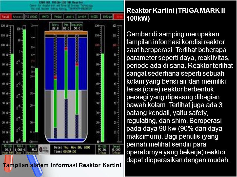 Tampilan sistem informasi Reaktor Kartini