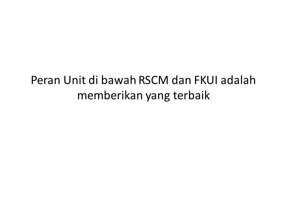 Peran Unit di bawah RSCM dan FKUI adalah memberikan yang terbaik