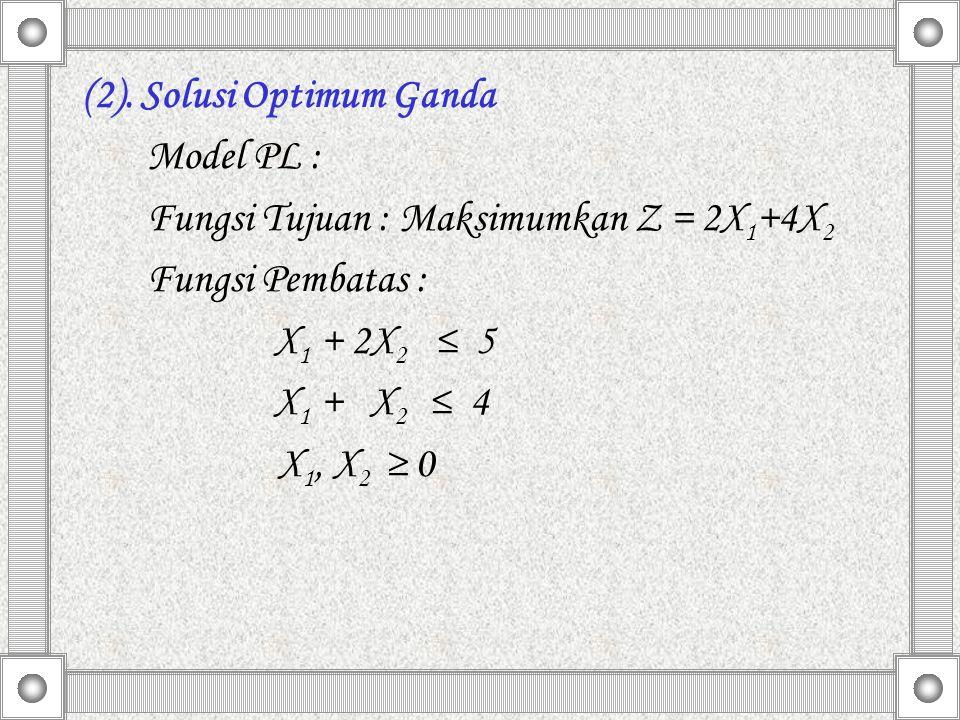 (2). Solusi Optimum Ganda