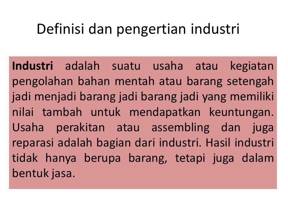 Definisi dan pengertian industri