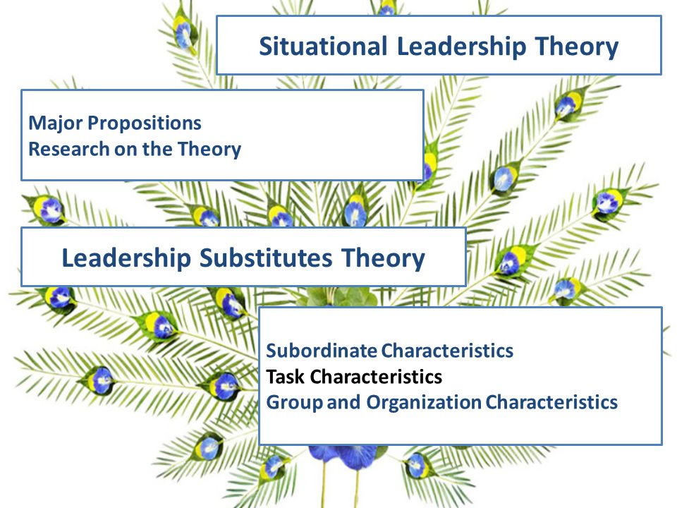 Situational Leadership Theory Leadership Substitutes Theory